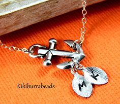 Anchor necklace Personalized anchor necklace by #Kikiburrabeads on #etsy#anchornecklace#sterlingsilver#friendshipnecklace#personalized www.kikiburrabeads.etsy.com @kikiburrabeads