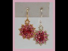 Sunburst Earrings ~ Seed Bead Tutorials