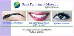 Semi-Permanent makeup typically consists of application of eyeliner or lash line. Nail Treatment, Spa Treatments, Hd Brows, Semi Permanent Makeup, Lip Colour, Lip Liner, Eyeliner, Lashes, Blush