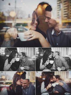 Coffee Shop Photo Op - Engagement Photo Ideas That Won't Make You Cringe - Photos