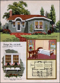 United States, Design No. ColorKeed Home Plans by William A. Sims 4 House Plans, Sims 4 House Building, Small House Plans, Small House Floor Plans, The Plan, How To Plan, Vintage House Plans, Vintage Homes, Casas The Sims 4