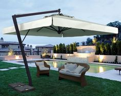 Sonnenschirm SCOLARO Leonardo Braccio 3,5x3,5 Ampelschirm, Aluminiumschirm für entspannte Momente