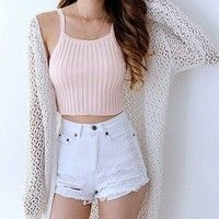 Wish   Fashion Women Crop Tops Sleeveless Camisole