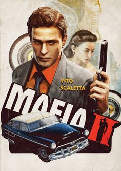 Mafia 2 3 Silk Fabric Canvas Poster Print inch Video Game Class Home Decor Wallpaper Mafia Video Game, Mafia Game, Mafia 2, Canvas Poster, Poster Prints, Juegos Ps2, Lincoln Clay, Videos, Minding Your Own Business