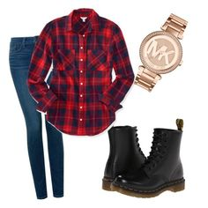 """""""Untitled #13"""" by rachel679 on Polyvore featuring Dr. Martens, NYDJ, Aéropostale and Michael Kors"""