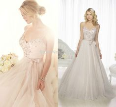 Ball Gown with Belt Sash Spaghetti Straps Wedding Dresses 2014 Crystals Beads Organza Sexy Plus Size Vestidos De Novia  $179.00