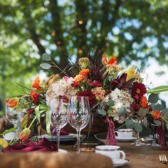 rustic tuscan fall centerpiece - www.bellacalla.com - Bella Calla - Denver Vail Aspen Florist