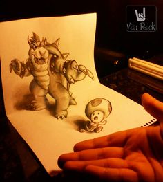 3d drawings on paper | 3D Drawing – Beckoning to the evil