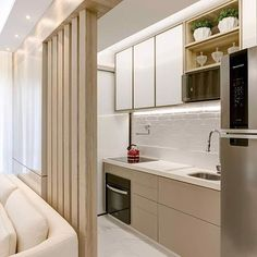 Hot coffee anyone? A quick pantry does the trick! ( Small Pantry Inspiration who wants a straight kitchen next to bedroom? Get swanky kitchen within Rs. 1 Lakh with 10 year warranty. Kitchen Room Design, Modern Kitchen Design, Home Decor Kitchen, Kitchen Living, Interior Design Kitchen, Home Kitchens, Kitchen Walls, Kitchen Furniture, Apartment Kitchen