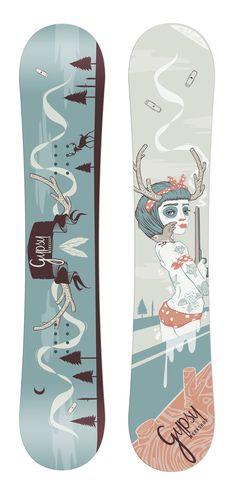 //Hunter// snowboard graphic design for Gypsy Workshop by luiza kwiatkowska, via Behance