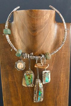~Sterling Silver, 22K Gold, Australian Boulder Opals, Ancient Fossil Walrus Ivory, Ancient African Wound Glass Beads~