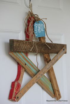 I THINK i can get my husband to make this one for we have scrap wood perfect for it! Then decorate it for seasons/holidays!