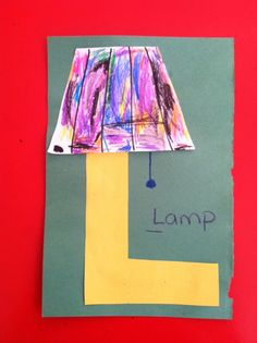 Alphabet craft, Letter L is for lamp Preschool Letter Crafts, Alphabet Letter Crafts, Abc Crafts, Alphabet Phonics, Preschool Projects, Alphabet Book, Classroom Crafts, Alphabet Activities, Preschool Activities