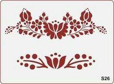"Képtalálat a következőre: ""stencil sablon"" Tambour Embroidery, Hungarian Embroidery, Embroidery Art, Embroidery Designs, Stencil Patterns, Applique Patterns, Stencil Diy, Stencils, Hungarian Tattoo"