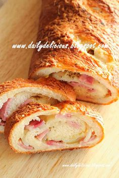 Ham and Onion cheese roll