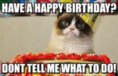 Have A Happy Birthday? - Grumpy Cat Birthday meme on Memegen