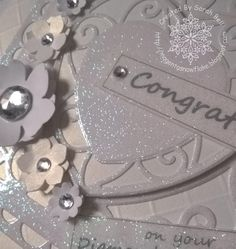 Designed by Sarah Bell using Tonic Heart Die ., LC Designs Glitter Film