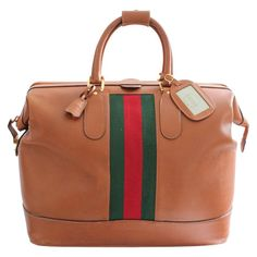 cacc079c46c Details about Rare Gucci Leather Duffle 50cm Doctors Bag Weekender Travel  Luggage + ID Tag VTG