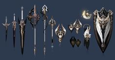 The Art of Aion Online — azsurance: azsurance: Winds of Fate II - Level. Anime Weapons, Sci Fi Weapons, Weapon Concept Art, Fantasy Sword, Fantasy Weapons, Fantasy Rpg, Armor Games, Armas Ninja, Arte Cyberpunk