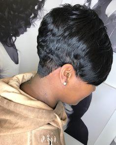 66 Chic Short Bob Hairstyles & Haircuts for Women in 2019 - Hairstyles Trends Short Sassy Hair, Short Hair Cuts, Short Hair Styles, Pixie Styles, Pixie Cuts, Short Pixie, Short Quick Weave Hairstyles, Short Relaxed Hairstyles, Love Hair