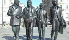 """The """"Fab Four"""" Beatles Statue (Liverpool, England) - Buyoya Abbey Road, New Brighton Beach, Manchester Cathedral, Visit Manchester, Liverpool England, Natural Language, Cultural Capital, Roadside Attractions, The Fab Four"""