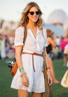 #Coachella #streetstyle eyelet dress