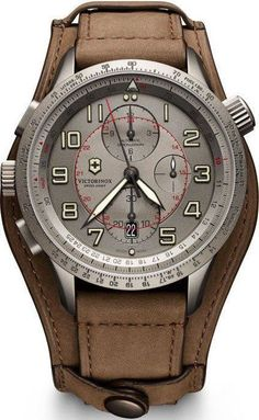 @vxswissarmy Watch Airboss Mach 9 Limited Edition #add-content #bezel-bidirectional #bracelet-strap-leather #brand-victorinox-swiss-army #case-material-titanium #case-width-45mm #chronograph-yes #classic #date-yes #delivery-timescale-1-2-weeks #dial-colou Sale! Up to 75% OFF! Shop at Stylizio for women's and men's designer handbags, luxury sunglasses, watches, jewelry, purses, wallets, clothes, underwear & more!