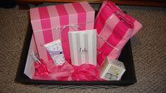 "Bridal shower gift idea! Inside the Victoria Secret box was their ""Bride"" robe! Theme it for a sexy night with her future husband to be."