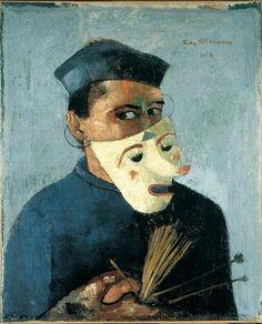 Felix Nussbaum (1904-1944) | Self-Portrait with Mask, 1928