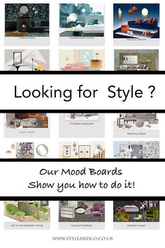 Create your own mood board! We show you how to create style for your own home. Take a look at our mood board collection and see Interior Blogs, Mood Board Interior, Interior Design Guide, Decorating Your Home, Interior Decorating, Decorating Ideas, Luxury Home Decor, Creative Home, Small Rooms