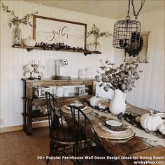 Popular Farmhouse Wall Decor Design Ideas for Dining Room ✓ - Farmhouse furnishings is a wonderful means to carry a welcoming contact to your residence. room wall decor ideas farmhouse Popular Farmhouse Wall Decor Design Ideas for Dining Room ✓ Dinning Room Wall Decor, Dining Room Walls, Farmhouse Kitchen Decor, Dining Room Design, Room Decor, Farmhouse Ideas, Rustic Farmhouse, Farmhouse Dining Rooms, Dinning Room Ideas