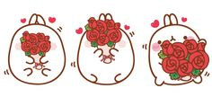 Molang valentines' roses