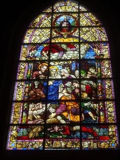Seville Cathedral - Lovely, rich stained glass window