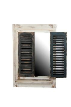 Decorate: Modern & Vintage 2-door reclaimed wooden mirror.