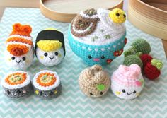 Amigurumi Food Bento Family Crochet Pattern/ by Amigurumifood