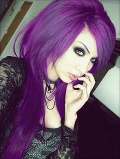 15.Punk Rock Hairstyle for Long Hair
