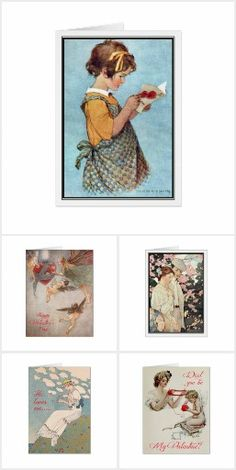 Vintage Valentine Cards - Jessie Willcox Smith, Florence Harrison, Harrison Fisher, Anne Anderson and more. Send a card with a beautiful Golden Age illustration that they'll want to keep.