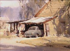 Jack Tanner, my grandfather, was born in Greta….  Old shed, Greta, Victoria