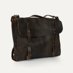 Bleu de Chauffe | Men | Leather messenger bag | Forester Bag Joplin | Made in France