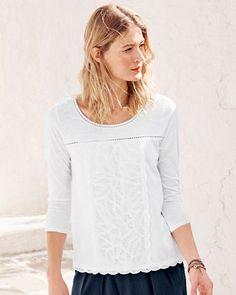 Colette Lace-Detail Knit Top