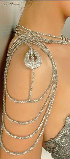 ~Diamond Shoulder Jewelry - Reena Ahluwalia For De Beers International Award | House of Beccaria