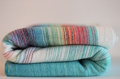 HSA Uppy wrap 5-3m natural cotton to turq faux grad weftweft change and rainbow pinstripes , rainbow tail
