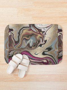 'Mixed Fluid Design' Bath Mat by Shane Simpson Fluid Design, Bath Mat Design, Bath Mats, Foam Cushions, Cold, Retro, Artwork, Prints, Bath Rugs