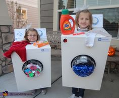Brooke: Myah was the washing Machine of the washer/dryer combo this year. She was a Maytag washing machine, complete with a bubble blower and a light up tumbler. She even had...