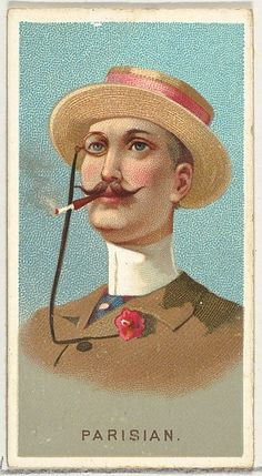 Parisian, from World's Smokers series for Allen & Ginter Cigarettes, American. The Metropolitan Museum of Art, New York. The Jefferson R. Burdick Collection, Gift of Jefferson R. Poster Prints, Framed Prints, Canvas Prints, Posters, Luigi, Thing 1, Classic Image, Retro, Photographic Prints