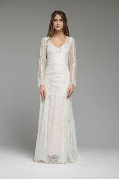 Vintage Inspired Lace Wedding Dress Dresses Gown London UK Boho Bohemian Modern LOOK 3