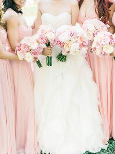 Photography: Honey Honey Photography -Rose Quartz Wedding Pantone Spring 2016 : http://www.fabmood.com/rose-quartz-wedding-theme #pinkwedding