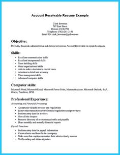 The Accounts Receivable Resume Summary Will Be. Accounts Receivable Job  Description For Resume And Accounts Receivable Resume Example