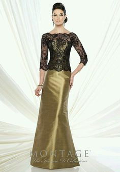Gold and black lace