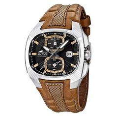 lotus uhren: Lotus Herren-Armbanduhr XL Analog Leder 15753/3 Best-Preis